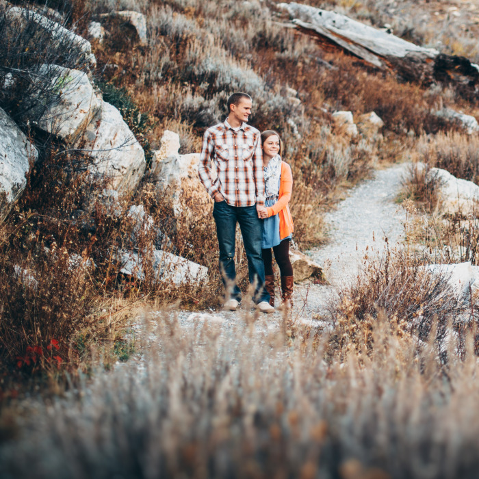 James & Heather | Engagement Session at Tony Grove Lake, UT