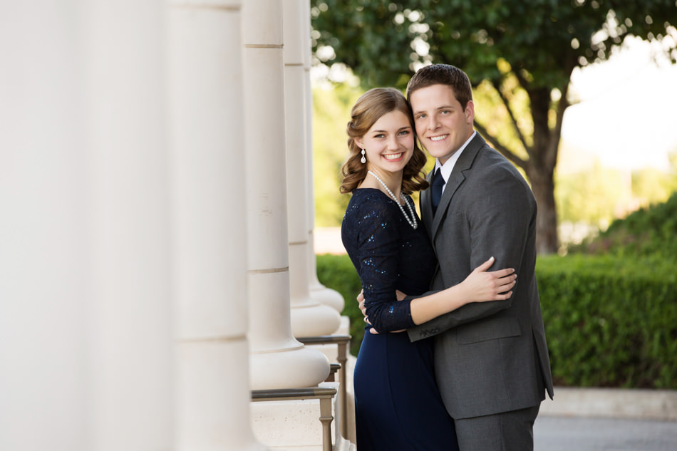 Formal posed wedding engagement pictures