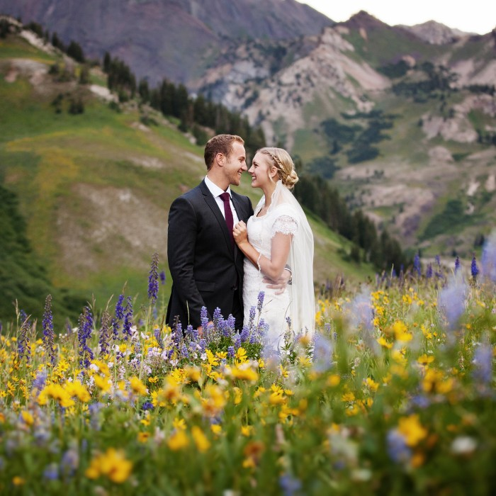 Marcus & Brenna | Wildflower Bridal at Albion Basin