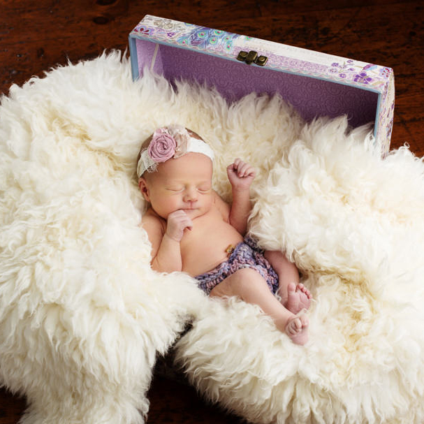 Emmy's Newborn Portraits at Chantilly Mansion