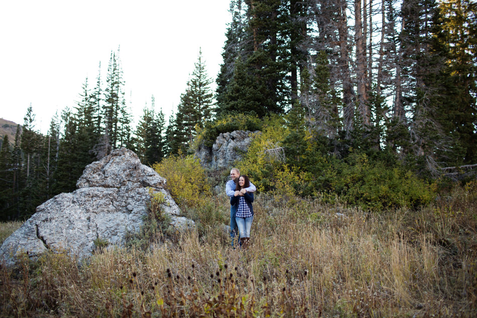 utah mountain engagement