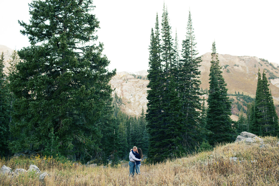 romantic mountain engagement
