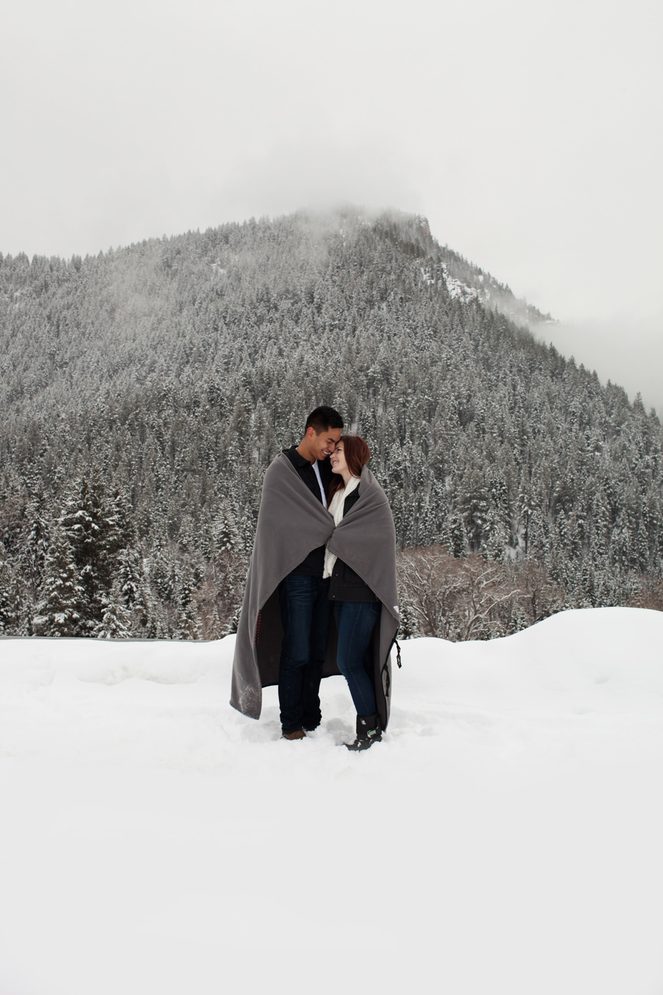 alpine loop engagement photos