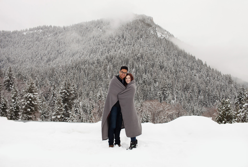 Winter Engagement Tibble Fork