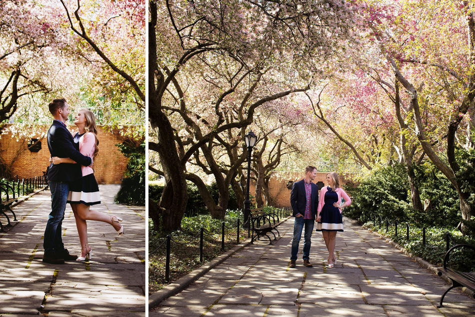 Conservatory Garden Central Park Engagement