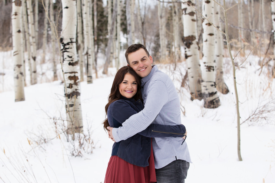 utah engagement photos snowbasin