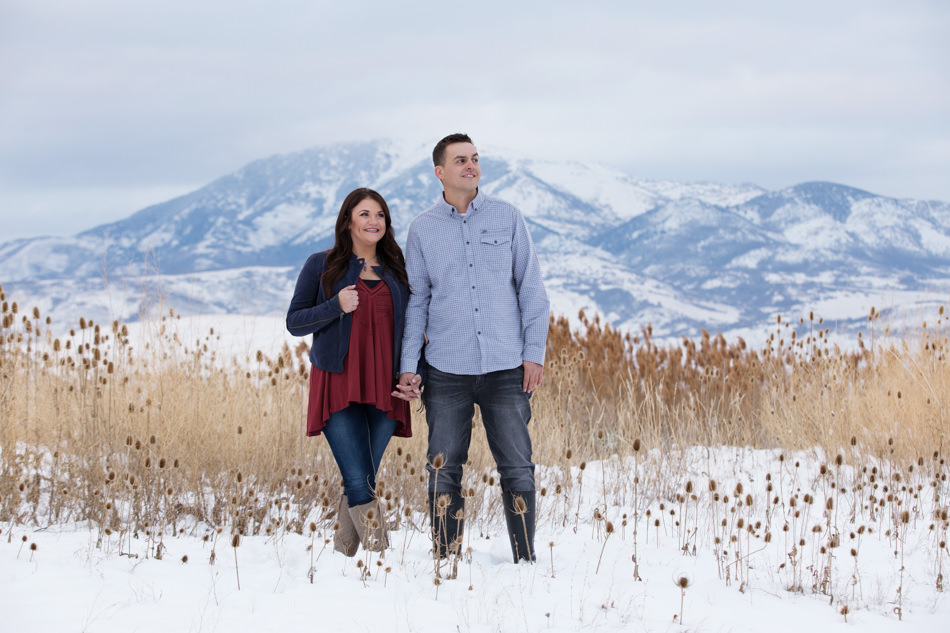 mountain green utah engagement photos