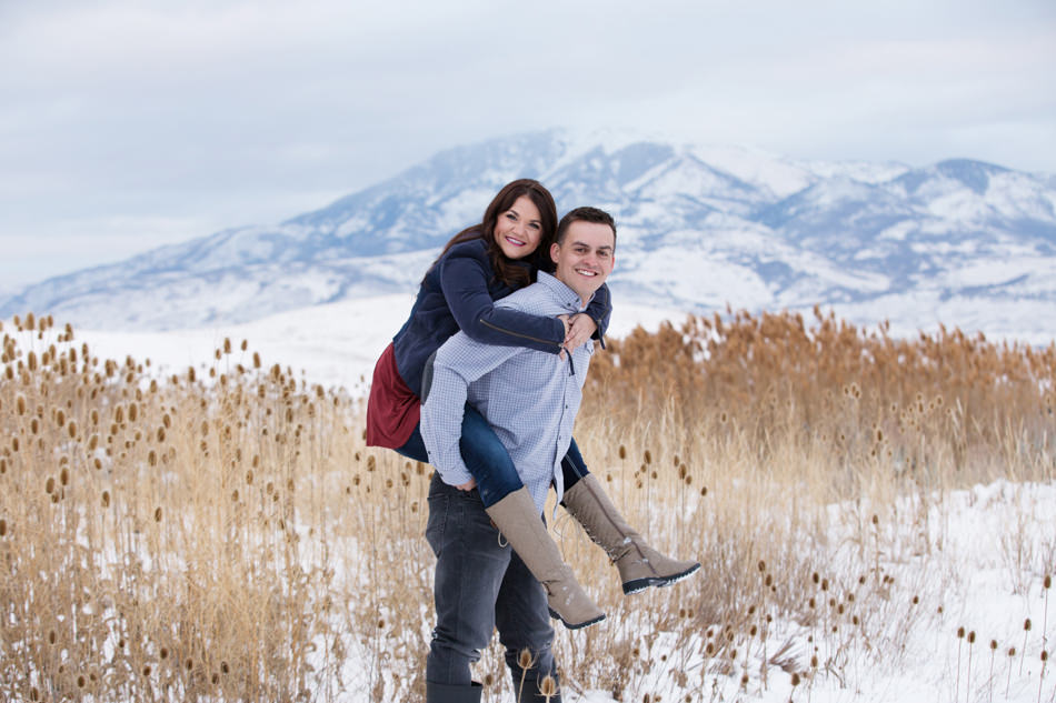 utah mountain engagement photos