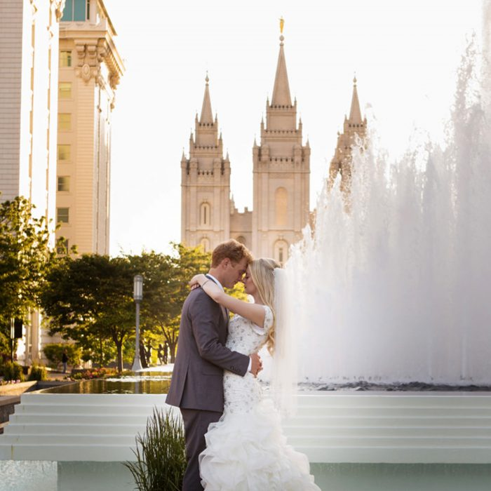 Tyler & Jenna | Bride/Groom Salt Lake Temple